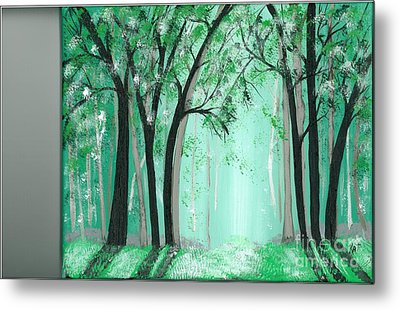 Forrest Metal Print by Kat Beights