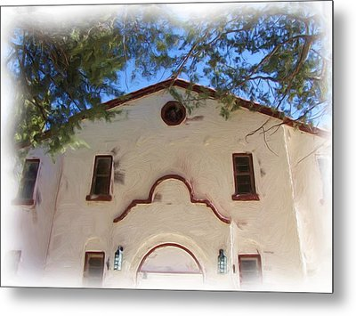 Fort Bayard Theater Metal Print by FeVa  Fotos