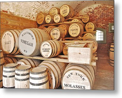 Fort Macon Food Supplies_9070_3759 Metal Print by Michael Peychich
