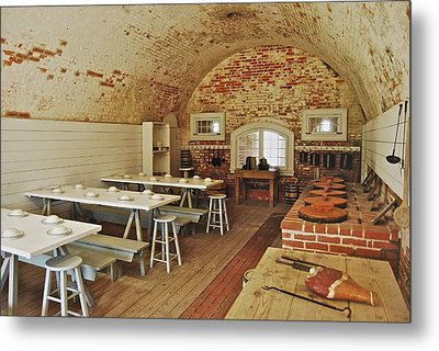 Fort Macon Mess Hall_9078_3765 Metal Print by Michael Peychich