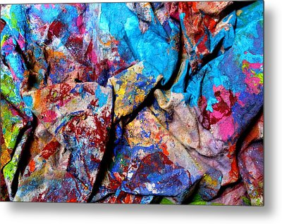 Found Art Studio Rag Metal Print by John  Nolan