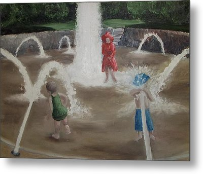 Fountain Metal Print by Angela Stout