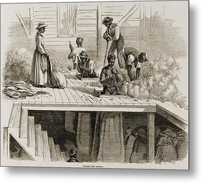Four 1869 Illustrations Show Processing Metal Print by Everett