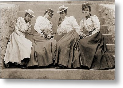 Four African American Women Students Metal Print by Everett