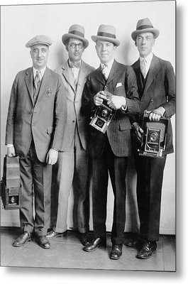 Four Members Of The White House News Metal Print by Everett
