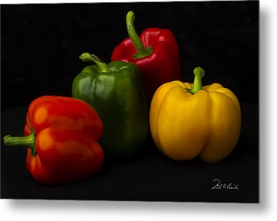 Four Peppers Metal Print by Frederic A Reinecke