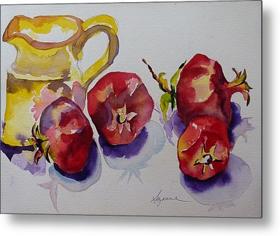 Four Pomegranates Metal Print by Suzanne Willis