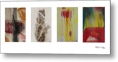Four Seasons In Abstract Metal Print by Xoanxo Cespon