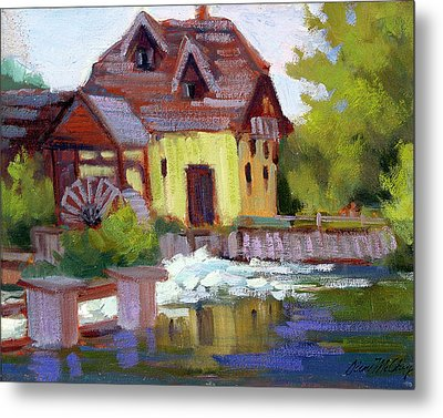 Fourge Mill Giverny Metal Print by Diane McClary