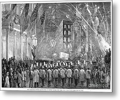 Fourth Of July, 1876 Metal Print by Granger