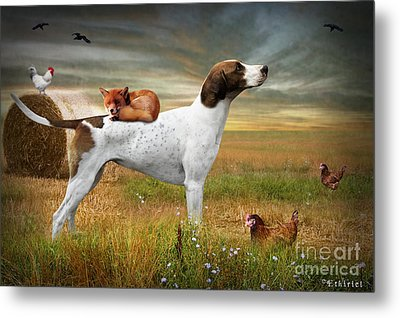 Fox And Hound Metal Print by Ethiriel  Photography