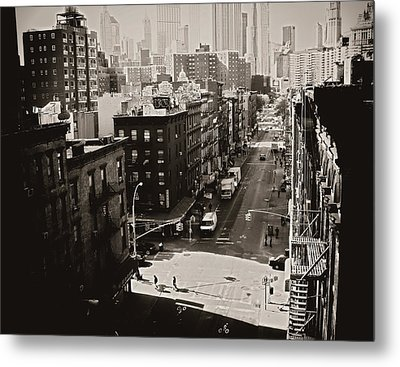 Fragments Of History - Above A New York City Street Metal Print by Vivienne Gucwa