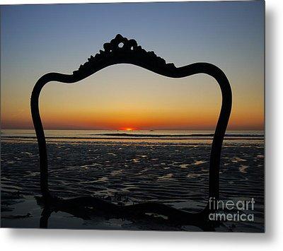 Framed Sunrise Metal Print by Nancie DeMellia