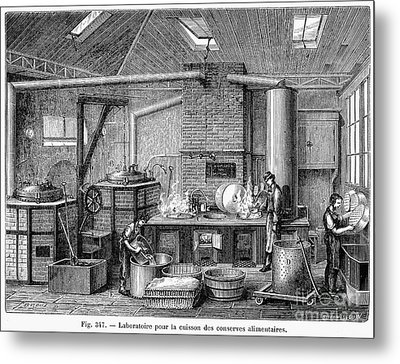 France: Food Laboratory Metal Print by Granger