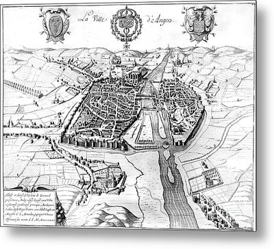 France: Walled City, 1688 Metal Print by Granger