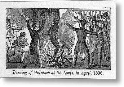 Francis L. Mcintosh, A Free Mulatto Metal Print by Everett