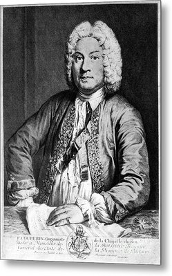 Francois Couperin (1668-1733). French Composer And Organist. Copper Engraving, 1725, By Joseph Flipart After A. Bouys Metal Print by Granger