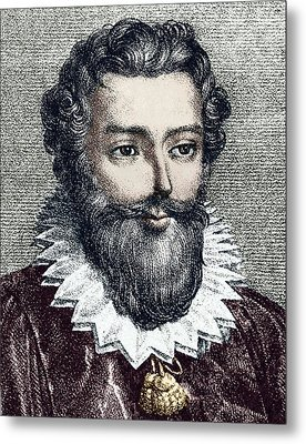 Francois Viete, French Mathematician Metal Print by Sheila Terry