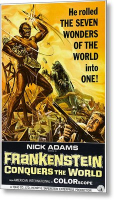 Frankenstein Conquers The World, Aka Metal Print by Everett