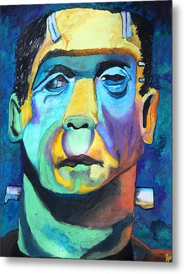 Frankenstein In Colour Metal Print by Jacquie Waldman