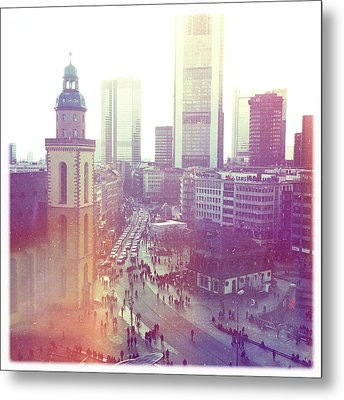 Frankfurt Downtown Metal Print by Ixefra