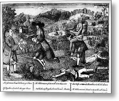 Franklin: Cartoon, 1764 Metal Print by Granger