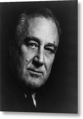 Metal Print featuring the photograph Franklin Delano Roosevelt  - President Of The United States Of America by International  Images