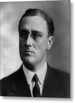Metal Print featuring the photograph Franklin Delano Roosevelt by International  Images