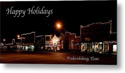 Metal Print featuring the photograph Fredericksburg Lights by Jim  Arnold