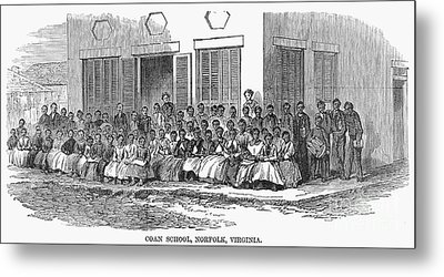 Freedmens School, 1868 Metal Print by Granger