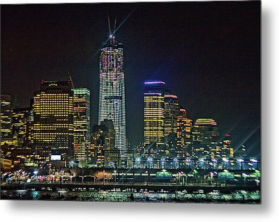 Freedom Tower Half Way Build Metal Print by Alex AG