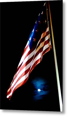 Flag On Federal Hill Metal Print