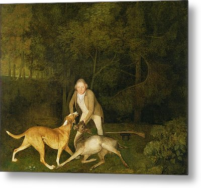 Freeman - The Earl Of Clarendon's Gamekeeper Metal Print by George Stubbs