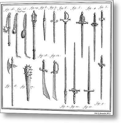 French Chivalric Weapons Metal Print by Granger