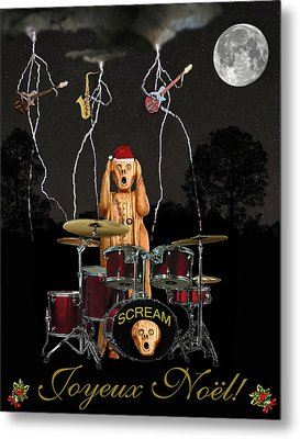 French Christmas Rock Metal Print