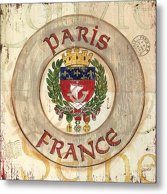 French Coat Of Arms Metal Print by Debbie DeWitt