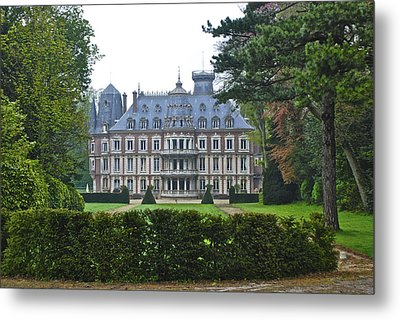 French Country Mansion Metal Print
