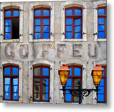 Metal Print featuring the photograph French Facade by David Harding