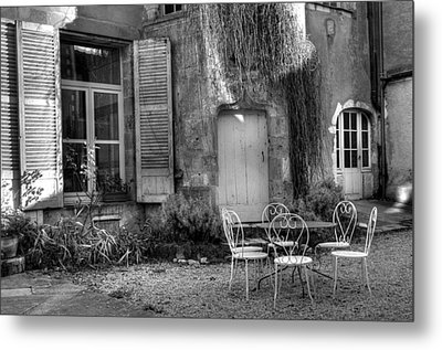 French Garden Metal Print by Jan Carr
