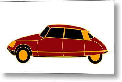 French Iconic Car - Virtual Car Metal Print by Asbjorn Lonvig