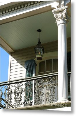 Metal Print featuring the photograph French Quarter Porch by Jeanne  Woods