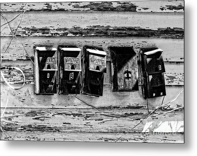 Freret Street Mailboxes - Black And White -nola Metal Print by Kathleen K Parker