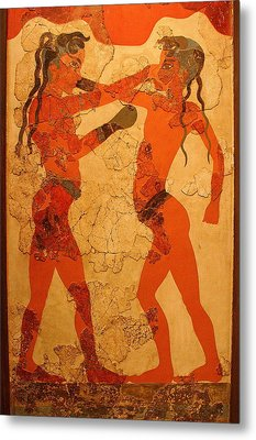 Fresco Of Boxing Children Metal Print