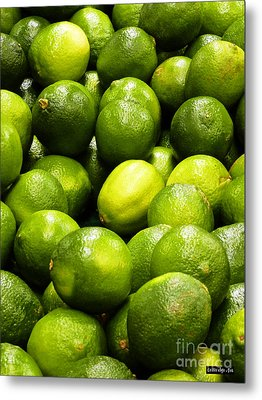 Fresh Limes Metal Print by Methune Hively