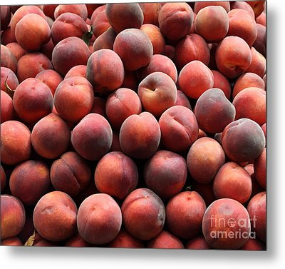 Fresh Peaches - 5d17816 Metal Print by Wingsdomain Art and Photography