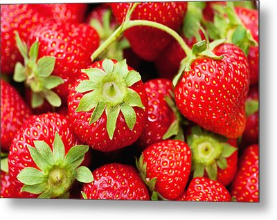 Fresh Strawberries Metal Print by Marta Holka