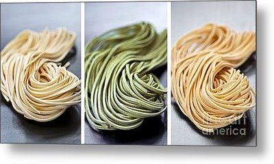 Fresh Tagliolini Pasta Metal Print