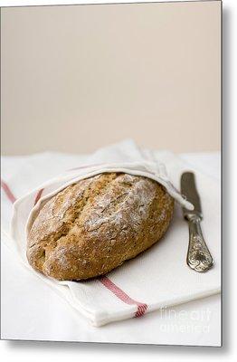 Freshly Baked Whole Grain Bread Metal Print by Shahar Tamir
