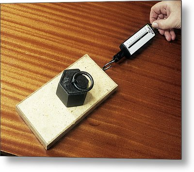 Friction Demonstration, Image 2 Of 2 Metal Print by Andrew Lambert Photography