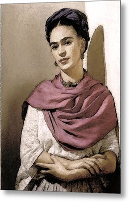 Frida Interpreted 2 Metal Print by Lenore Senior